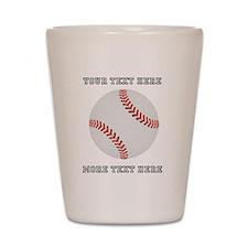 Personalized Baseball Shot Glass