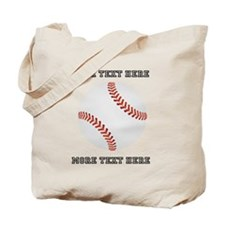 Personalized Baseball Tote Bag