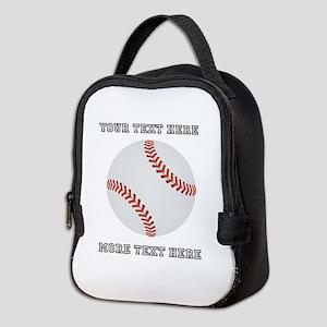 Personalized Baseball Neoprene Lunch Bag
