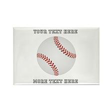 Personalized Baseball Rectangle Magnet