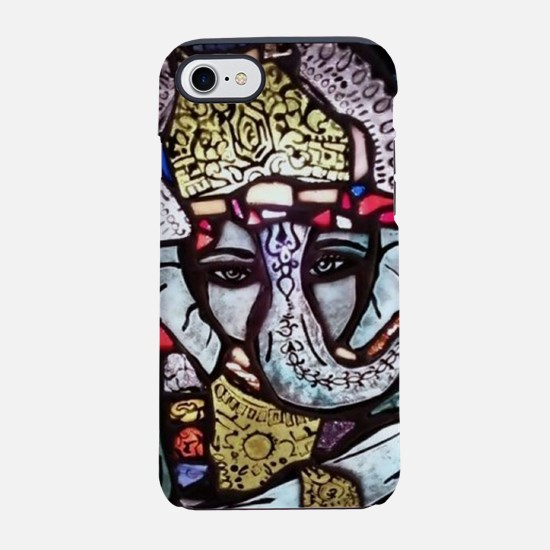 Ganesh Stained Glass Panel iPhone 7 Tough Case