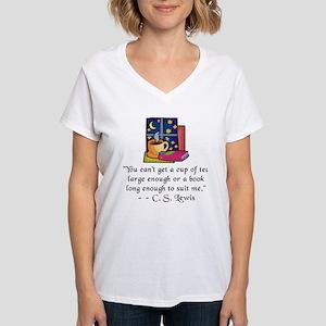 Tea & Books w Quote T-Shirt