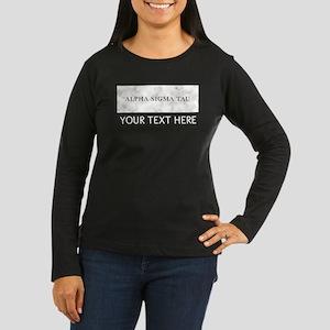 Alpha Sigma Tau M Women's Long Sleeve Dark T-Shirt