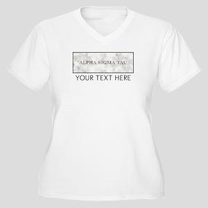 Alpha Sigma Tau M Women's Plus Size V-Neck T-Shirt