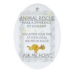 """""""Animal Rescue"""" Oval Ornament"""