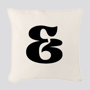 Black White Ampersand And Sign Woven Throw Pillow
