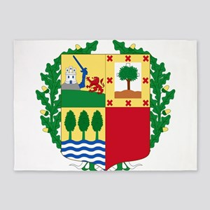 Basque Coat of Arms 5'x7'Area Rug