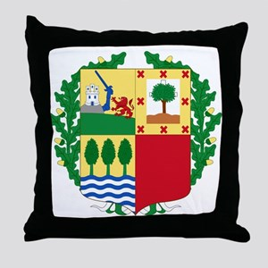 Basque Coat of Arms Throw Pillow