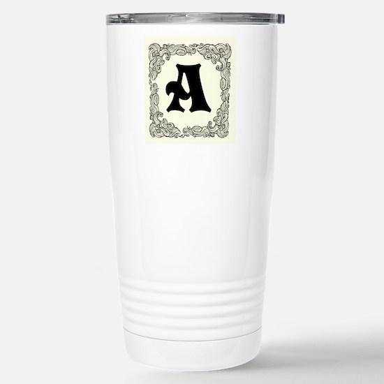Personalized Monogram Initial Travel Mug
