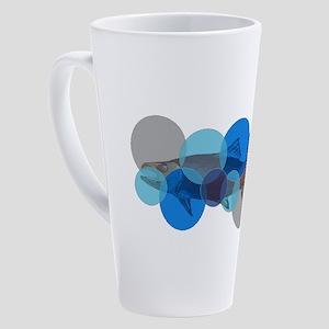 SALMON BUBBLE 17 oz Latte Mug