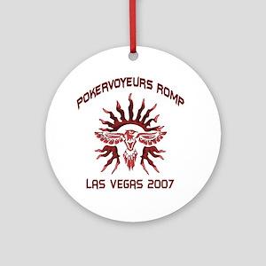 PokerVoyuers Romp Ornament (Round)