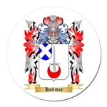 Holliday Round Car Magnet