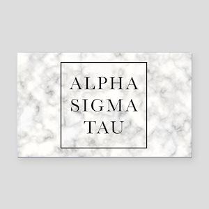 Alpha Sigma Tau Marble Rectangle Car Magnet