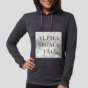 Alpha Sigma Tau Marble Womens Hooded Shirt