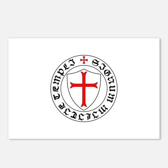 Cute Knights templar Postcards (Package of 8)