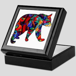 BEAR PAINTED Keepsake Box