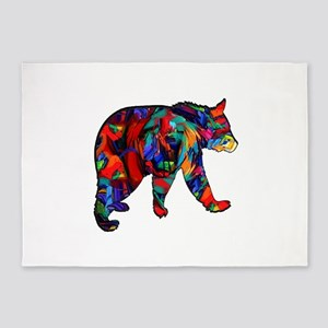 BEAR PAINTED 5'x7'Area Rug