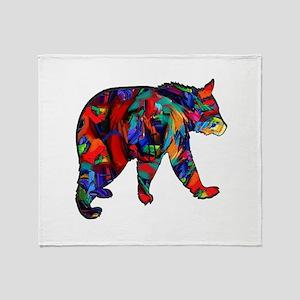 BEAR PAINTED Throw Blanket