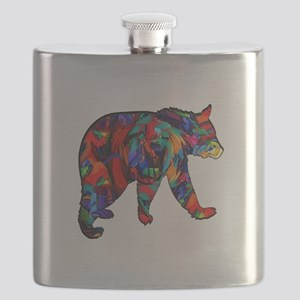 BEAR PAINTED Flask