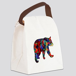 BEAR PAINTED Canvas Lunch Bag
