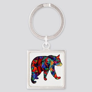 BEAR PAINTED Keychains