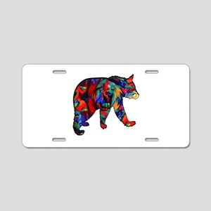 BEAR PAINTED Aluminum License Plate