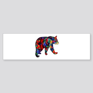 BEAR PAINTED Bumper Sticker