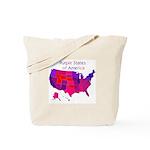 Purple States Tote Bag