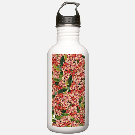 Plumeria Flowers Floral Tropical Water Bottle