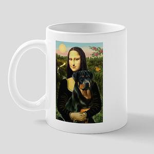 Mona Lisa/Rottweiler Mug