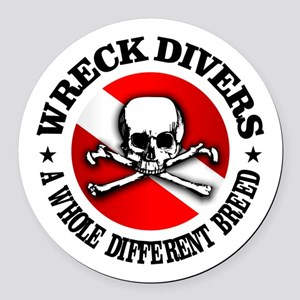 Wreck Divers (Different Breed) Round Car Magnet