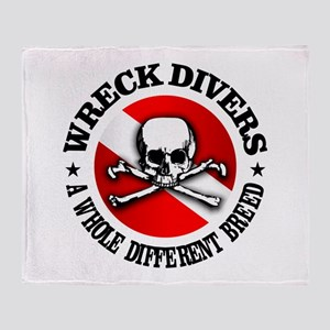 Wreck Divers (Different Breed) Throw Blanket