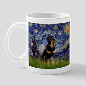 Starry Night Rottweiler Mug
