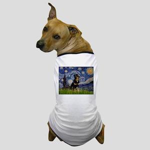 Starry Night Rottweiler Dog T-Shirt