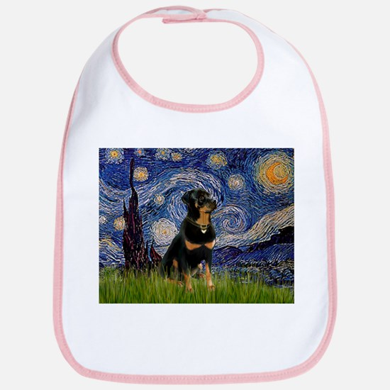 Starry Night Rottweiler Bib