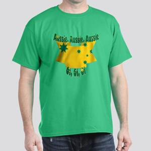 Aussie flag ribbon Dark T-Shirt