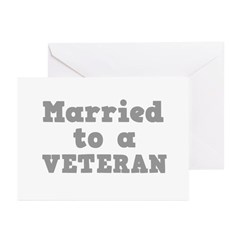Married to a Veteran Greeting Cards (Pk of 10)
