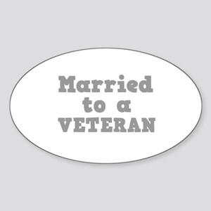 Married to a Veteran Oval Sticker