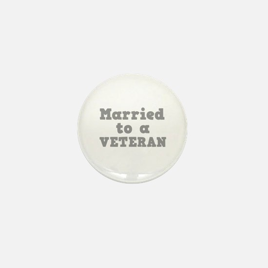 Married to a Veteran Mini Button