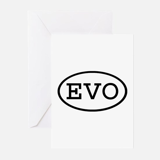 EVO Oval Greeting Cards (Pk of 10)
