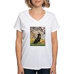 Spring / Rottweiler Women's V-Neck T-Shirt