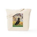 Spring / Rottweiler Tote Bag