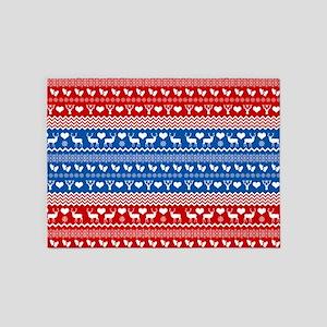 Ski Sweater Pattern 5'x7'Area Rug