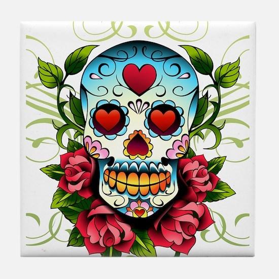 Day of the Dead Skull Tile Coaster