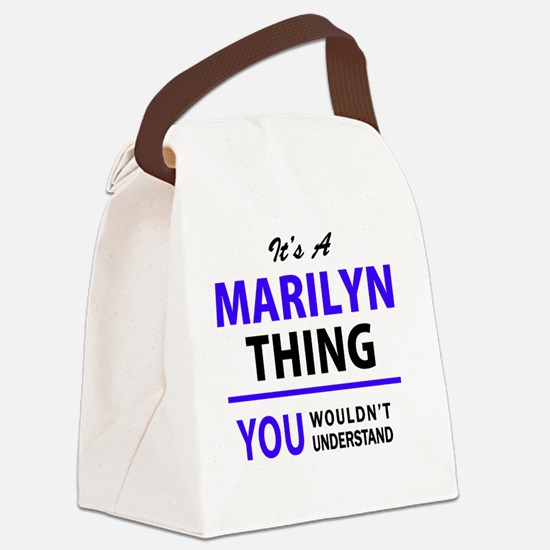 Marilyn warhol Canvas Lunch Bag