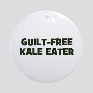 guilt-free kale eater Ornament (Round)