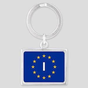 sticker I blue 5x3.psd Keychains