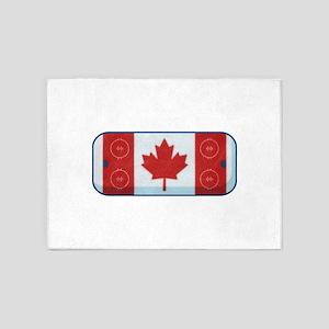 Hockey Rink Flag 5'x7'Area Rug