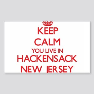 Keep calm you live in Hackensack New Jerse Sticker