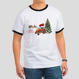 Christmas on the Farm Tractor T-Shirt